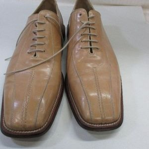 Mezlan Men's Brown Leather Dress Shoes 13
